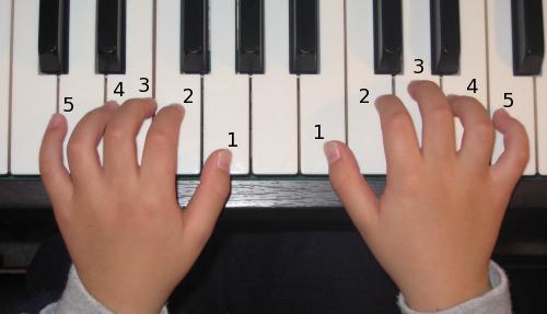 Học đàn organ cơ bản với kỹ thuật năm ngón năm nốt